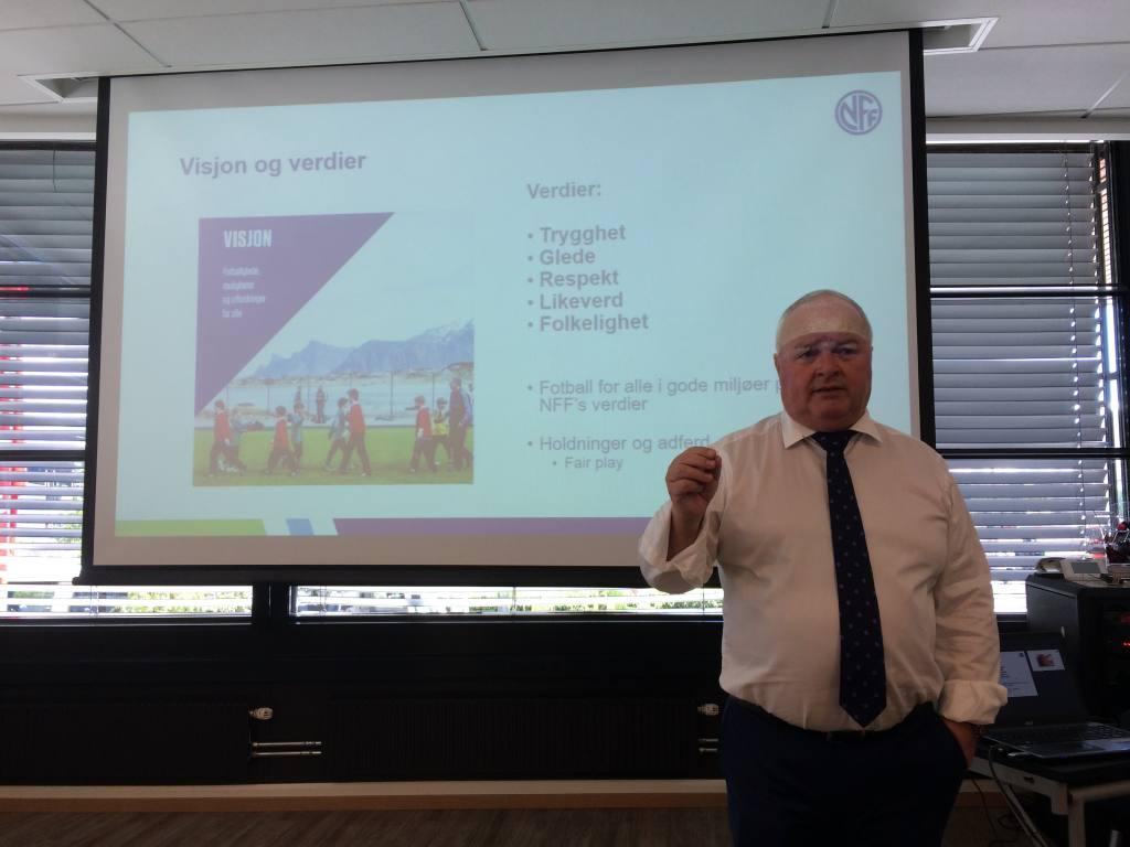 En engasjert og åpenhjertig President i NFF Terje Svendsen