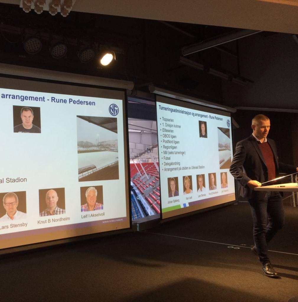 Direktør i Konkurranseavdelingen Nils Fisketjønn presenterte sin organisasjon for ei lydhør og engasert forsamling.
